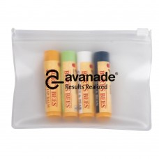 Burt's Bees Set of 4 Lip Balms + EVA Biodegradable Pouch