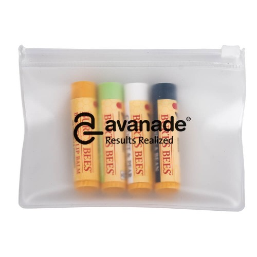 Burt's Bees Set of 4 Lip Balms + EVA Biodegradable Pouch