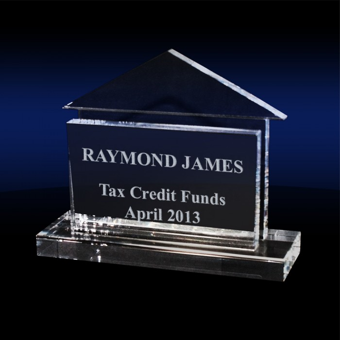 House Shaped Business Card Holder Hg