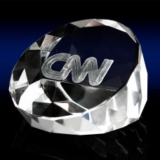 Wedge Shaped Paperweight - Large