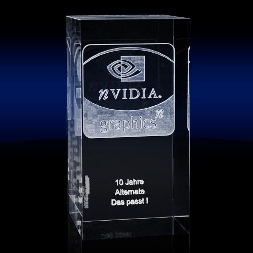 Pillar Slim Rectangular Award - Xtra Large