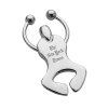 Happy Dancer Can Opener Keychain