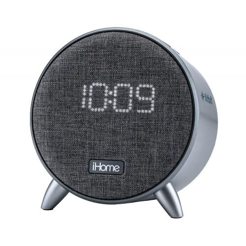 iHome iBT235 Bluetooth Digital Alarm Clock with Dual USB Charging and Ambient Nightlight