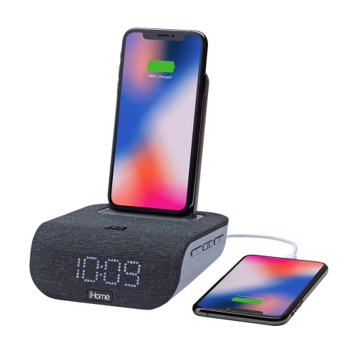 iHome iBTW20 Dual-Charging Alarm Clock and Wireless Speaker