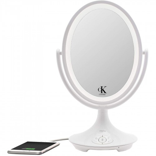 iHome Beauty Vanity Speaker with Bluetooth, Speakerphone, and USB Charging