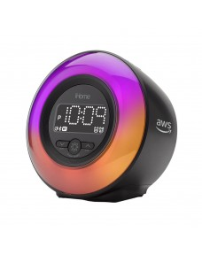 iHome Powerclock Glow Bluetooth Color Changing Alarm Clock IBT295B