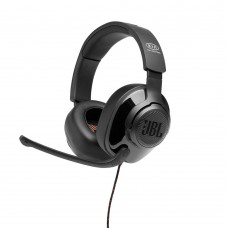 JBL Quantum 300 Wired Over-Ear Gaming Headset with Flip-Up Mic