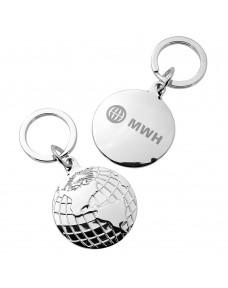 Globe Disc Keychain