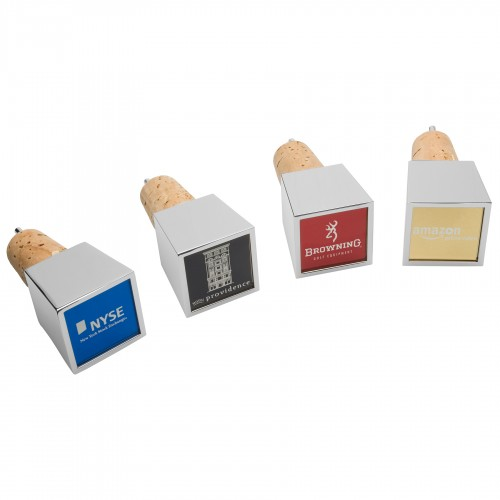 Cubo Stopper/Pourer w/Colored Metal Plate