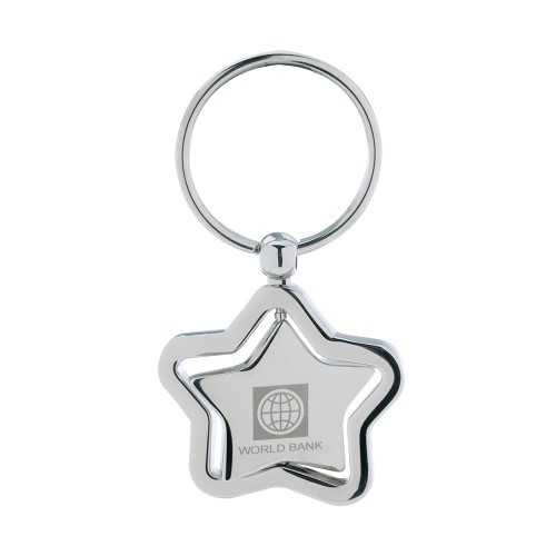 Spinning Star Keychain