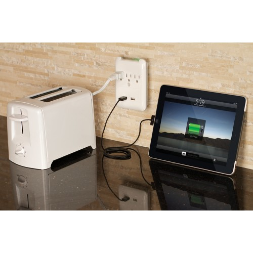 Hamba Surge Protector Outlet & USB Charger