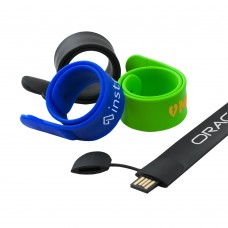 Trayola USB Drive 2.0 Slap-on Silicone Bracelet